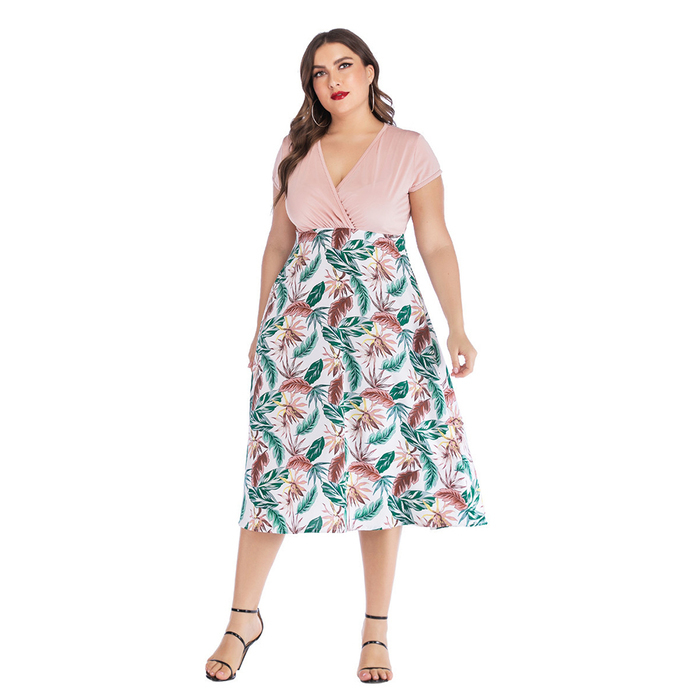 Esprlia Plus Floral Midi Dress