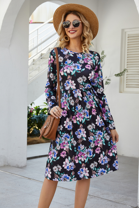 Esprlia Flower Printed Casual Dress
