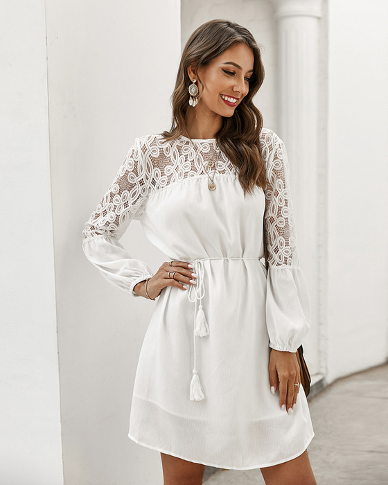 Esprlia Embroidered Contrast Dress