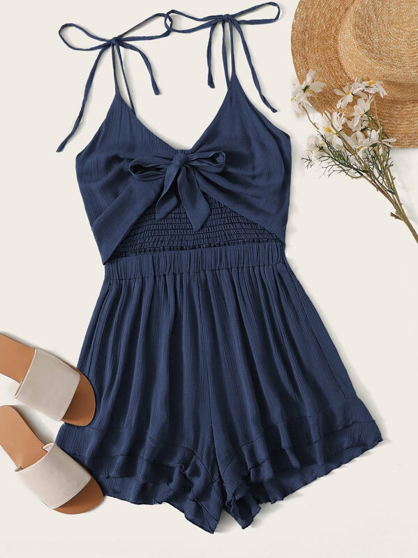 Esprlia Cute Cami Solid Rompers
